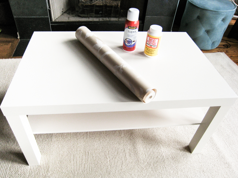 Ikea Lack Coffee Table Makeover - Before