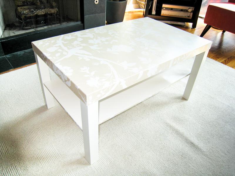 Ikea Lack Coffee Table Makeover in progress