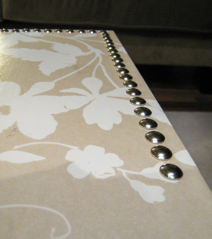 Nailhead trim close up