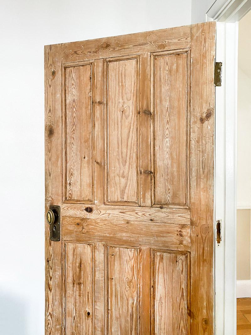 Rehung paint stripped door