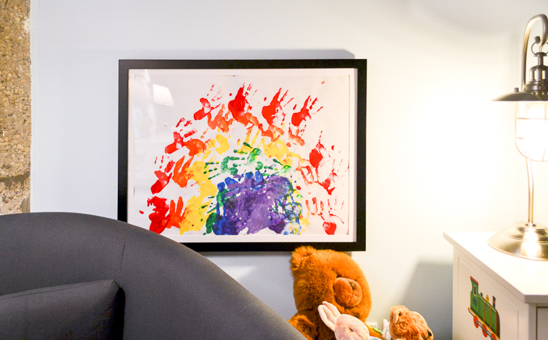 Changable art work display for child's artwork