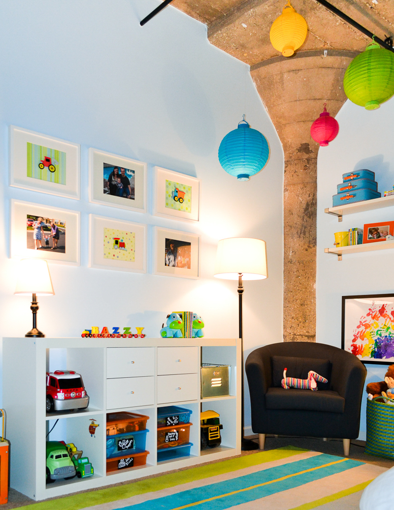 Concrete in toddler bedroom
