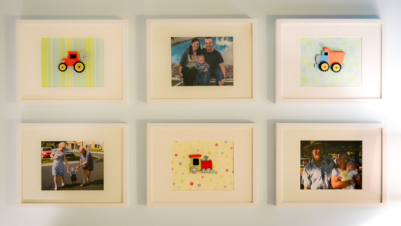 Gallery wall in toddler bedroom