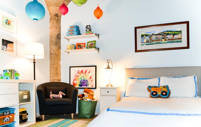 Industrial loft toddler bedroom after