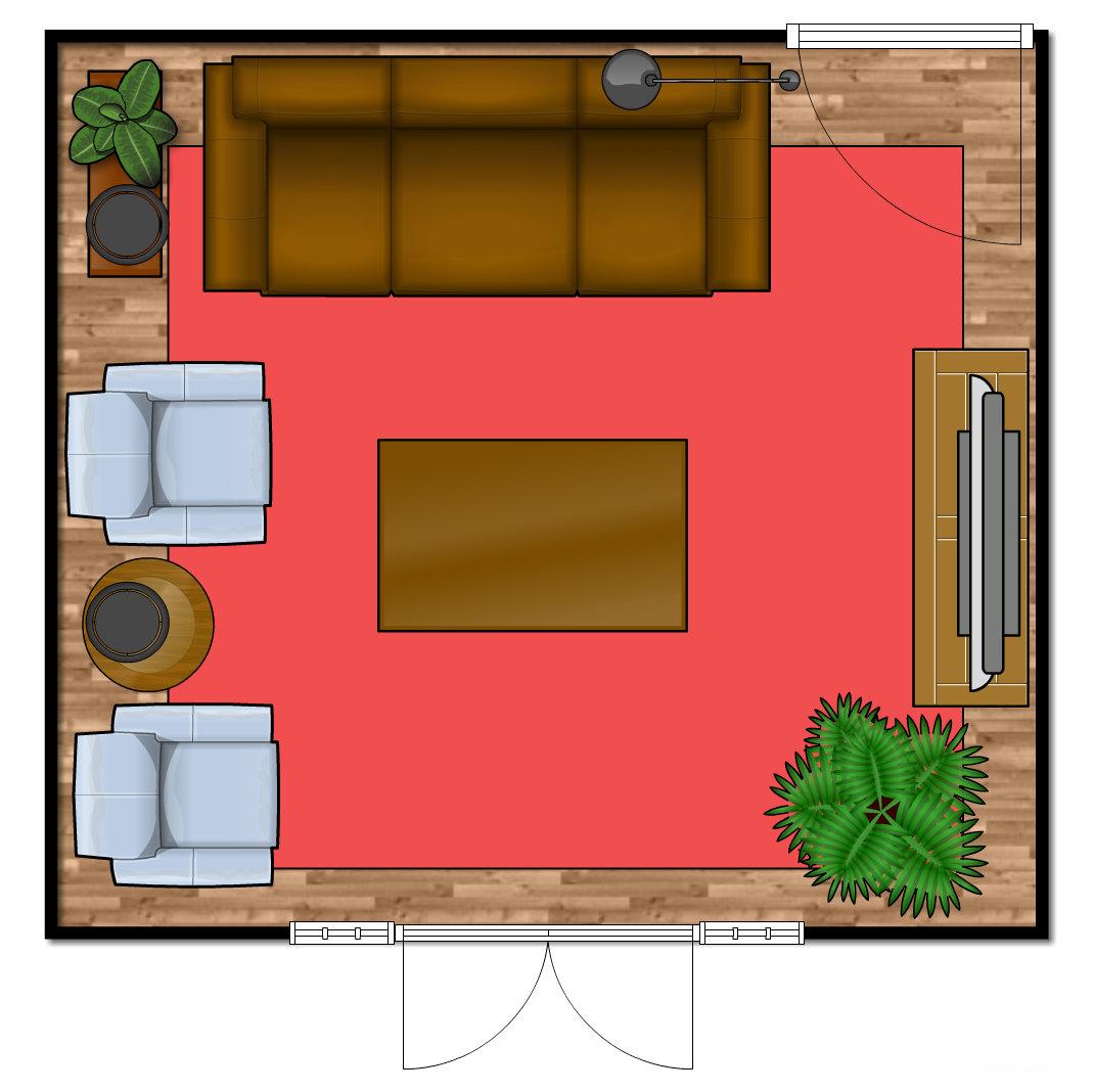 Art Deco Living Room Floor Plan Emmerson & Fifteenth Interior Design