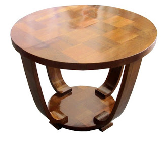Art Deco parquetry side table