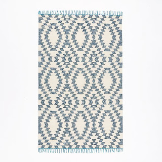 West Elm Navy Kilim Rug