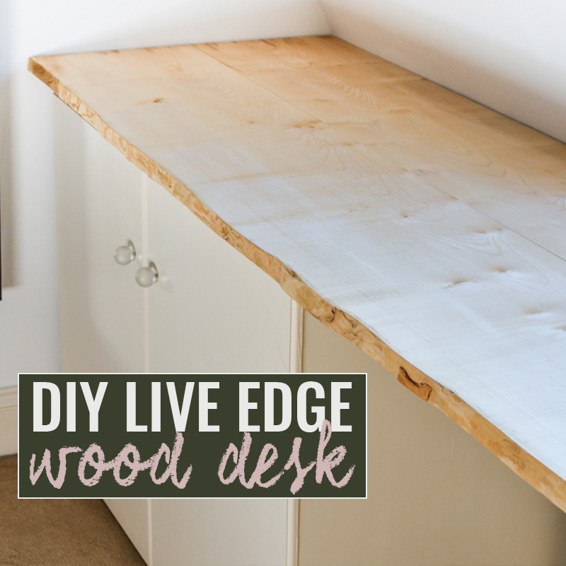 DIY Live Edge Wood Desk Tutorial