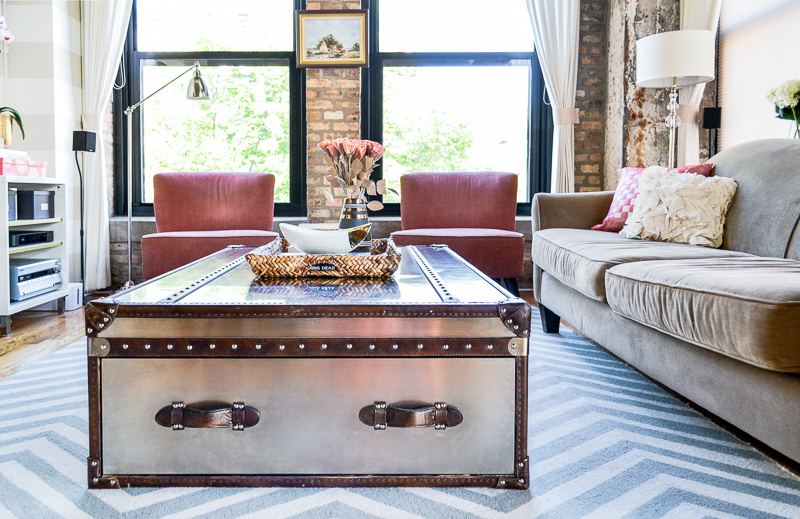 Emmerson and Fifteenth Interior Design - Steamer trunk industrial coffee table