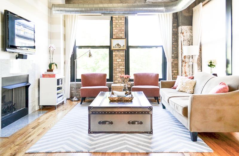 Industrial Living Room Interior Design