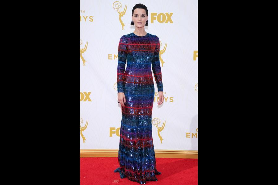 59f1da9985 Jaimie Alexander on the red carpet at the 67th Emmy Awards.