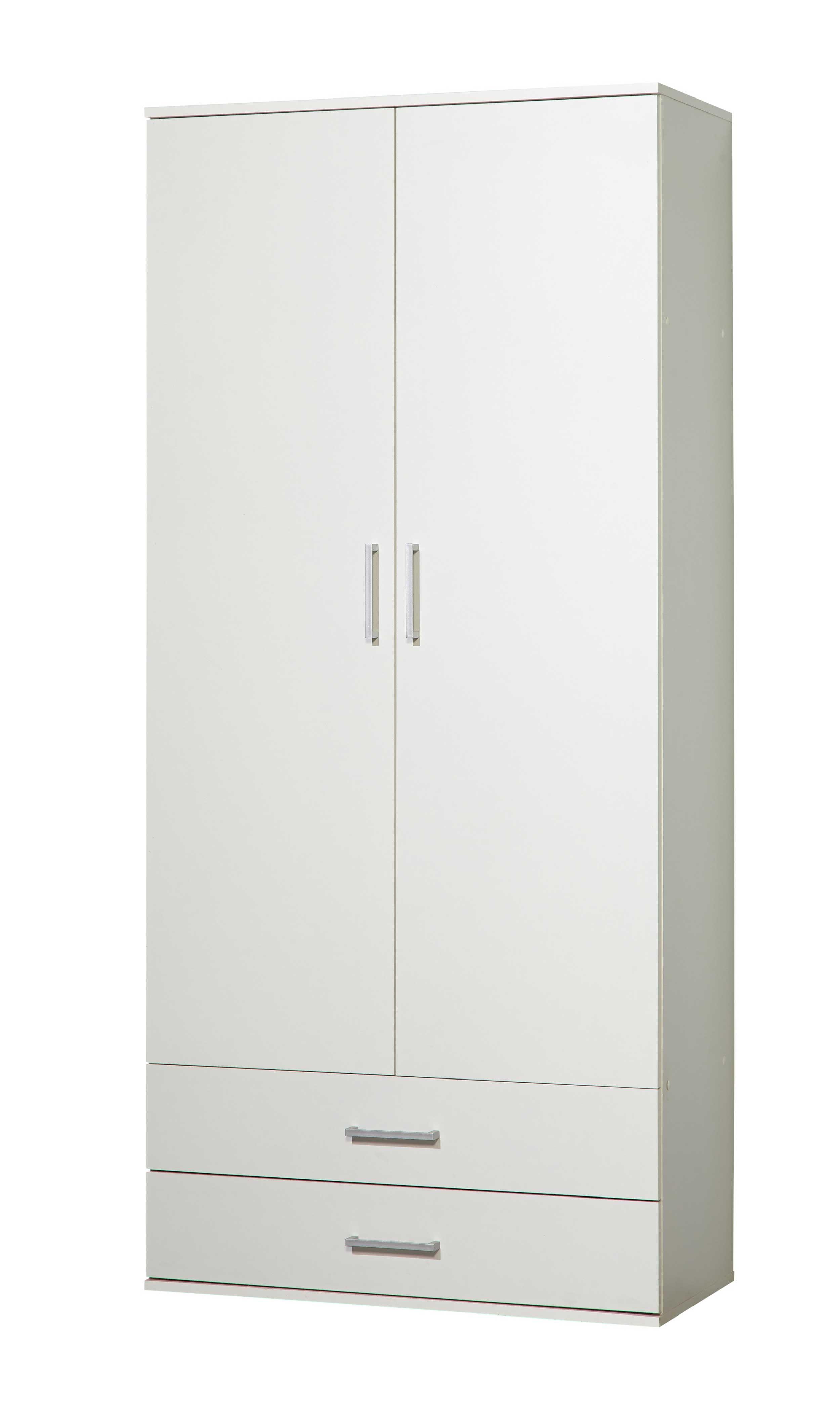 armoire de rangement ronny avec compartiment pour aspirateur blanc