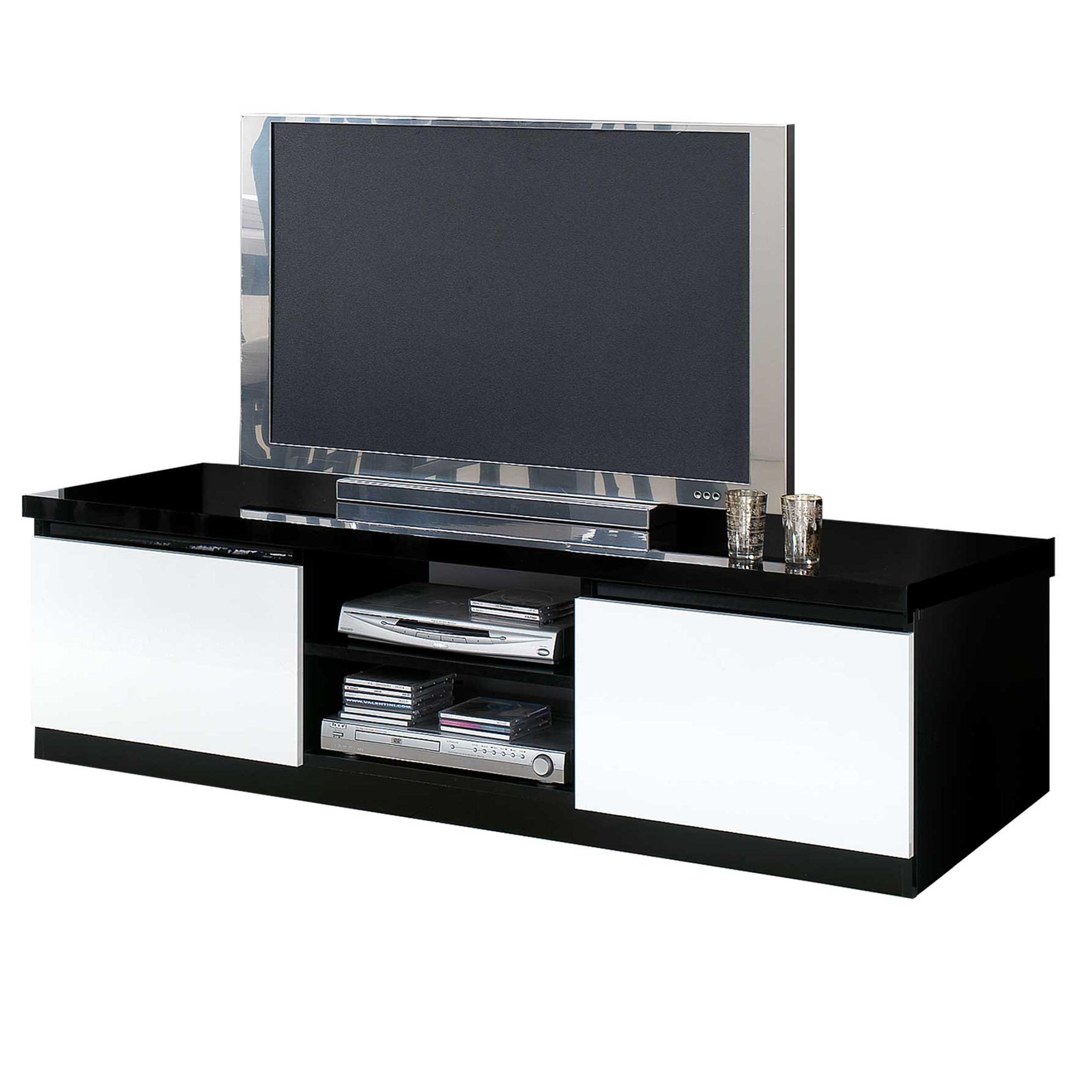 meuble tv roma 150cm noir blanc