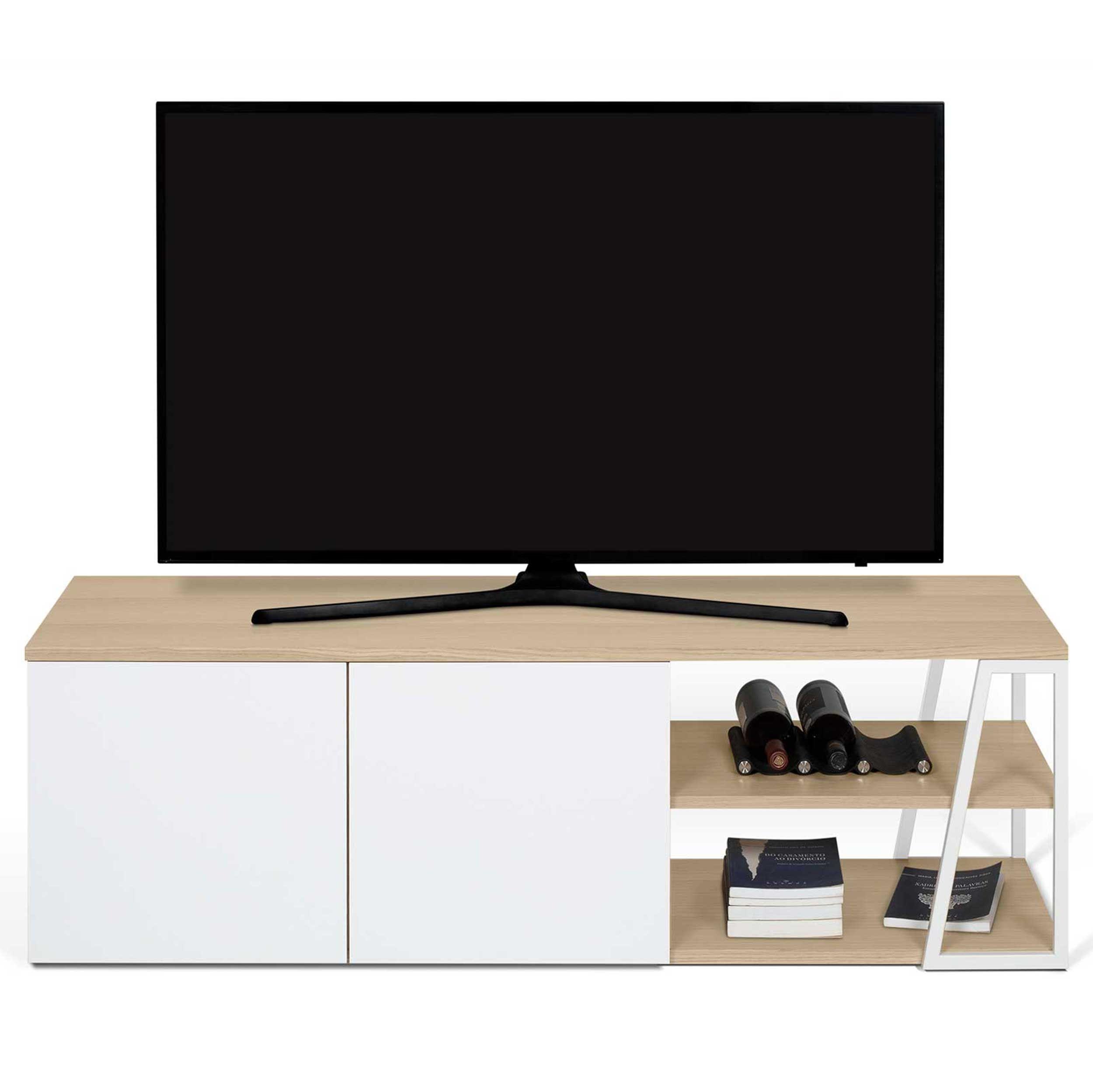 meuble tv albi chene blanc