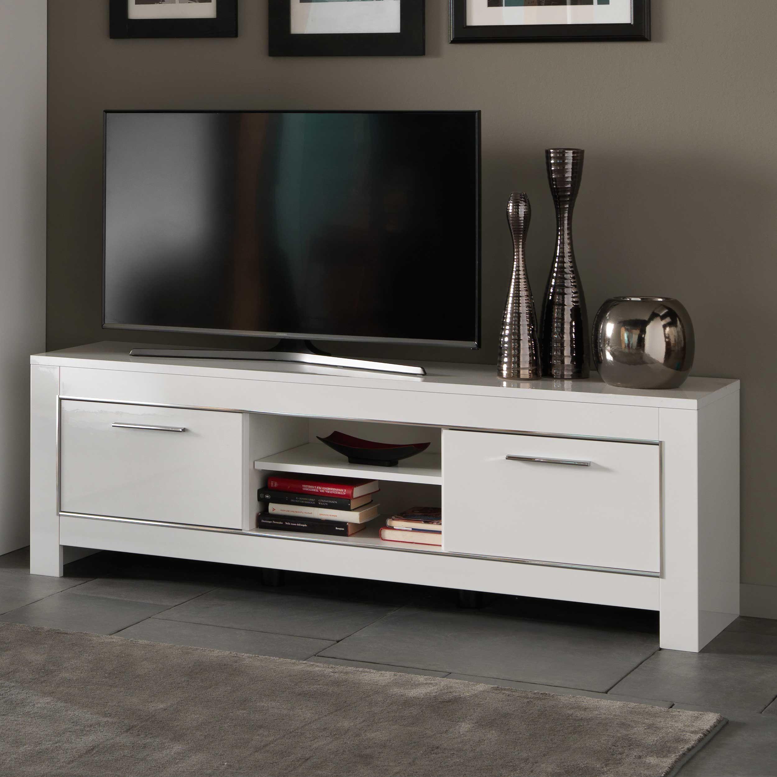 meuble tv modena 160 cm blanc