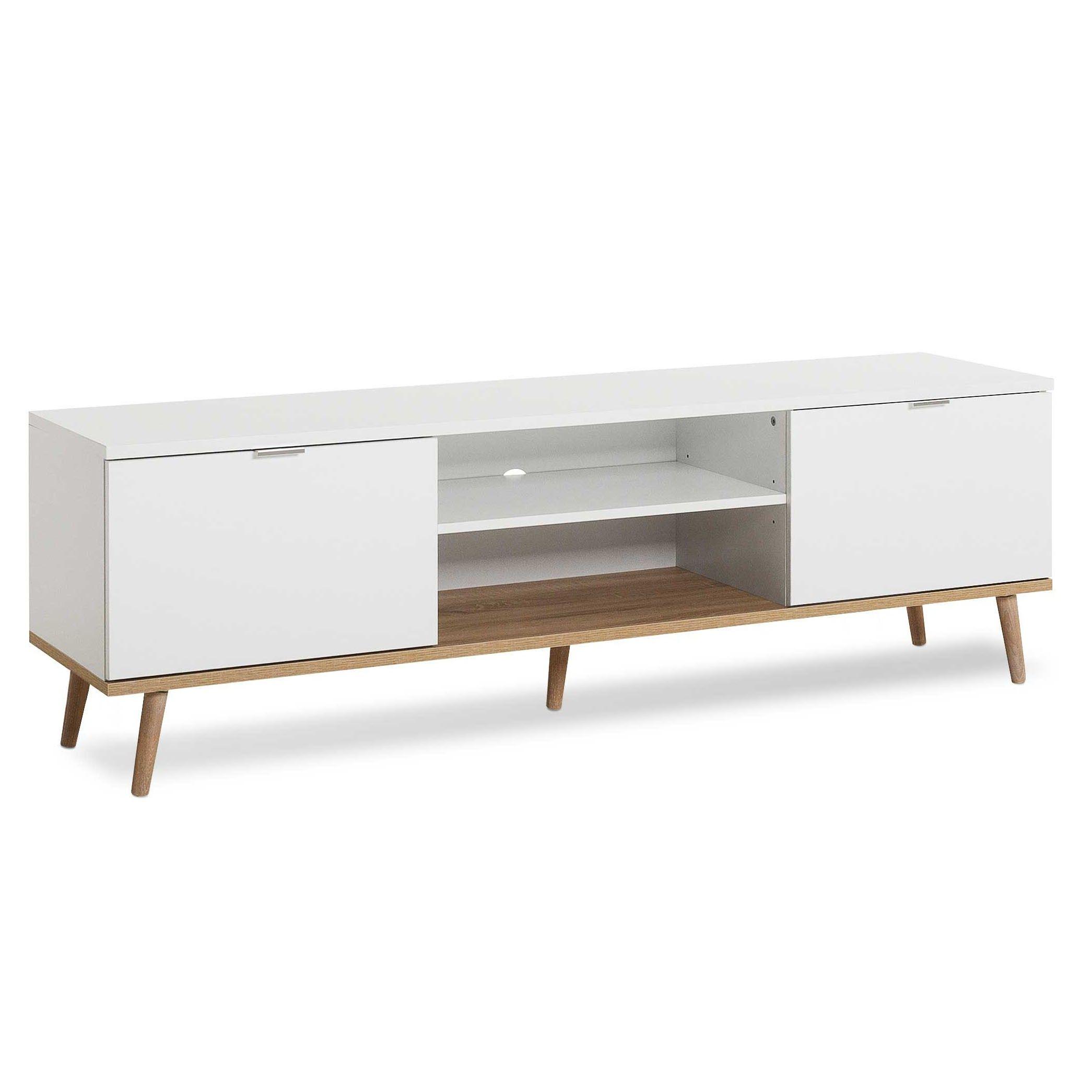 meuble tv goteborg 160cm blanc