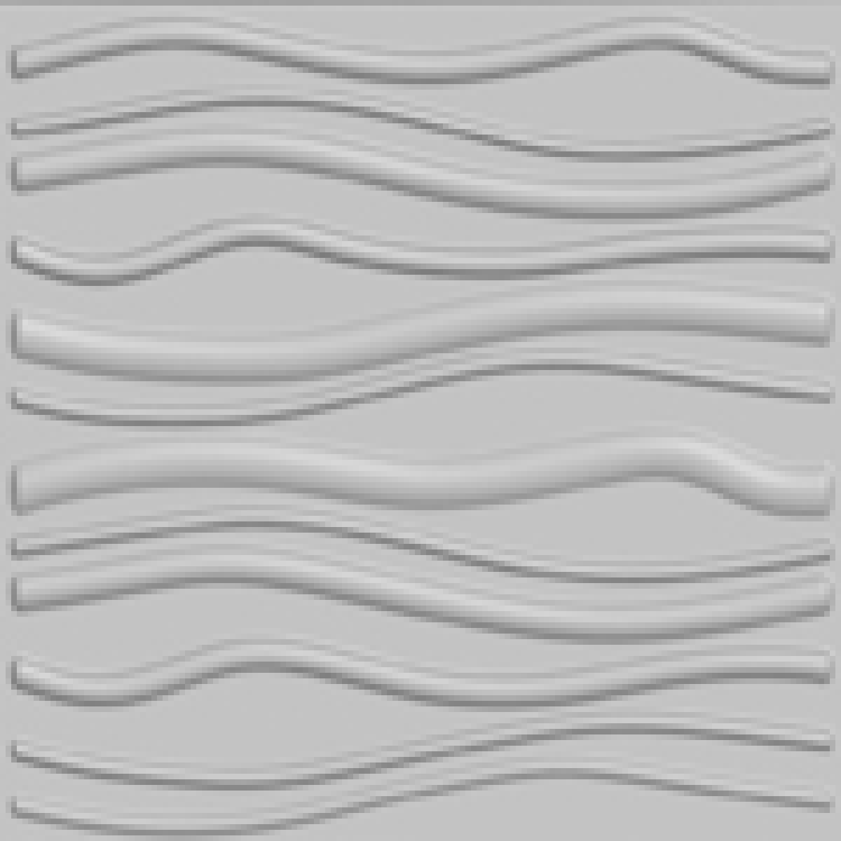 Wave Design 3d Glue On Wall Panel