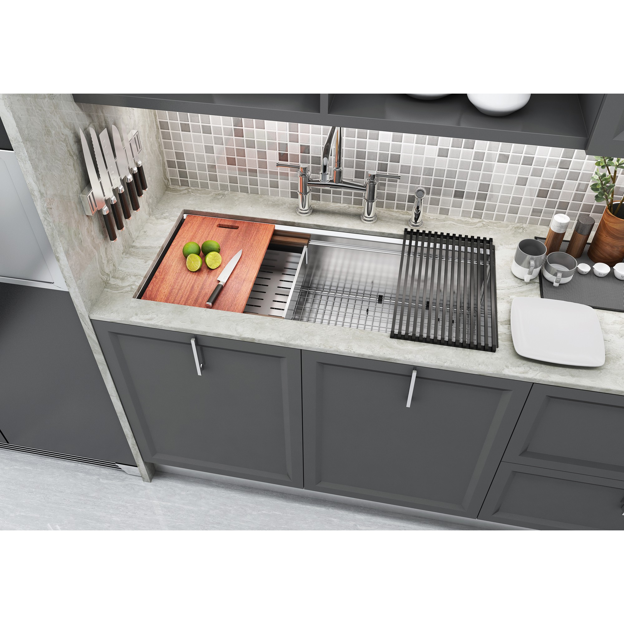 stainless steel kitchen sink