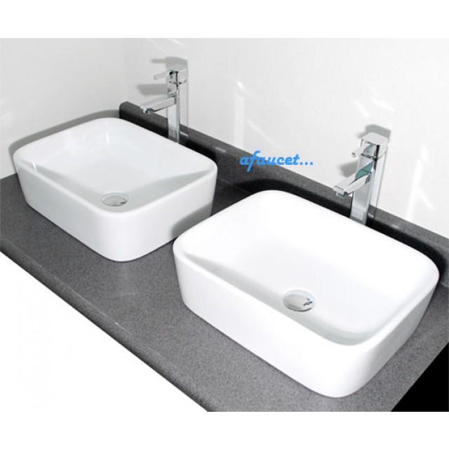 rectangular white porcelain ceramic countertop bathroom vessel sink 19 x 14 1 2 x 5 1 4 inch