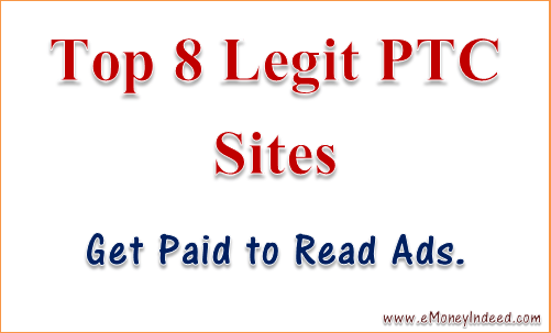 get paid to read ads with top 8 legit PTC sites