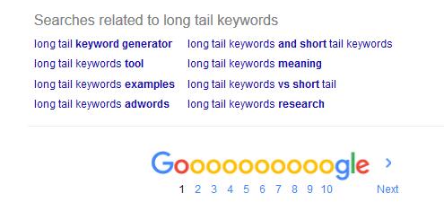 long tail keywords tool