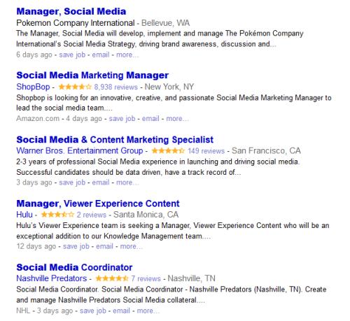 Social Media Online Jobs