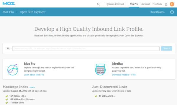 Open Site Explorer Link Research Backlink Checker Moz