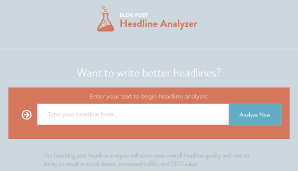 CoSchedule Blog Post Headline Analyzer