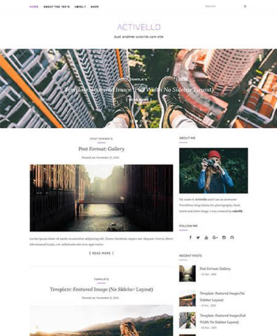 Activello is another top-rated free responsive wordpress theme available at wordpress.org