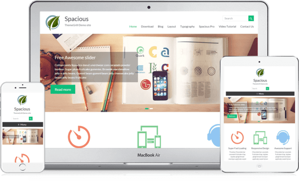 Spacious another impressive responsive wordpress theme by ThemeGrill