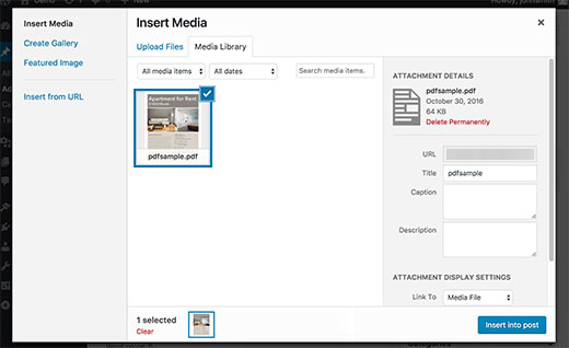 New WordPress 4.7 PDF Thumbnail Previews