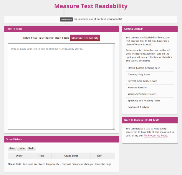 Check Your Readability Score