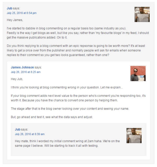 Blog Commenting Examples