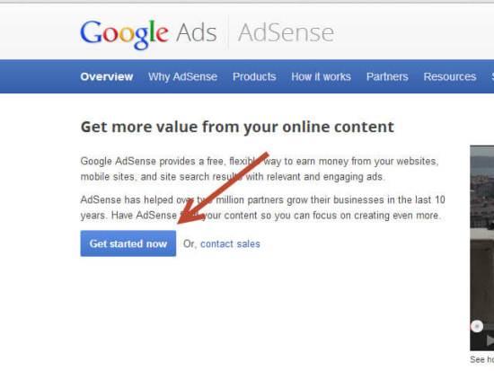 steps to apply for Google AdSense