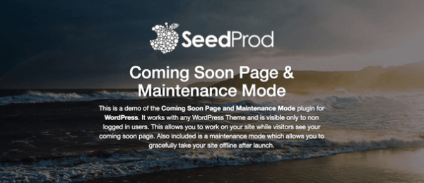 Coming Soon Page & Maintenance Mode by SeedProd — WordPress Plugins