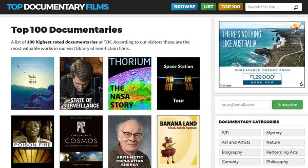 Top 100 Documentaries - Top Documentary Films