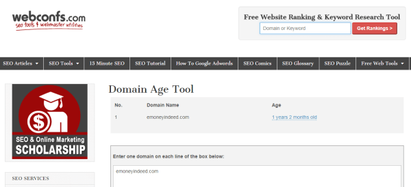 Authentic Domain Age Tools - Check Domain Age