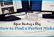 Before Starting a Blog How to Find a Perfect Niche