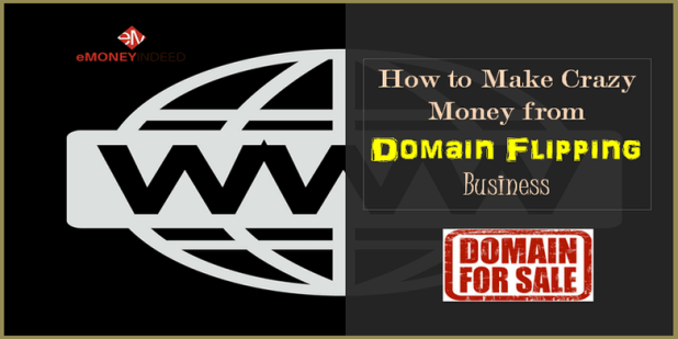 buying domain names and then selling them at a profit