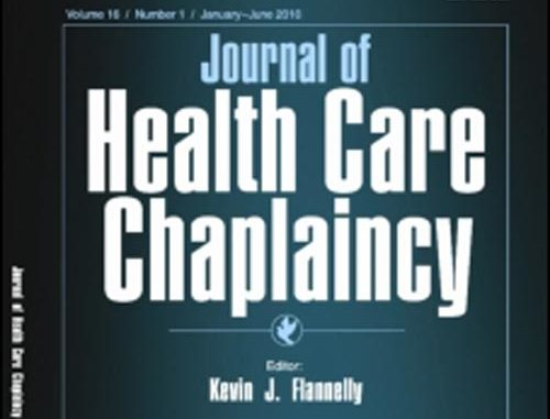 Cover image of an edition of the Journal of Healthcare Chaplaincy