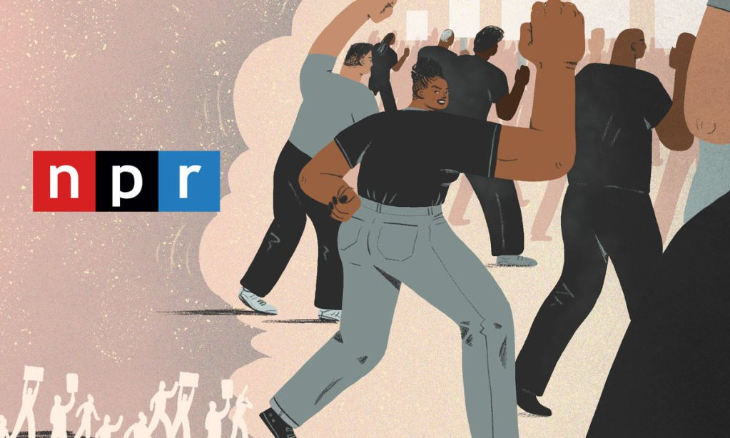 NPR illustration of black people out demonstrating.