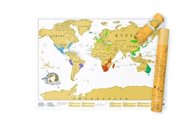 Mappa geografica da grattare