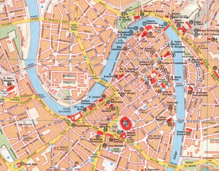 Mappa di Verona da stampare