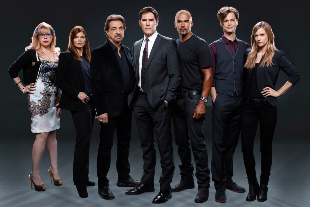 Criminal Minds Gallery: Kirsten Vangsness as Penelope Garcia, Jeanne Tripplehorn as Alex Blake, Joe Mantegna as David Rossi, Thomas Gibson as Aaron Hotchner, Shemar Moore as Derek Morgan, Matthew Gray Gubler as Dr. Spencer Reid, A.J. Cook as Jennifer â��JJâ� Jareau. PHOTO: CLIFF LIPSON/CBS �©2013 CBS BROADCASTING INC. ALL RIGHTS RESERVED