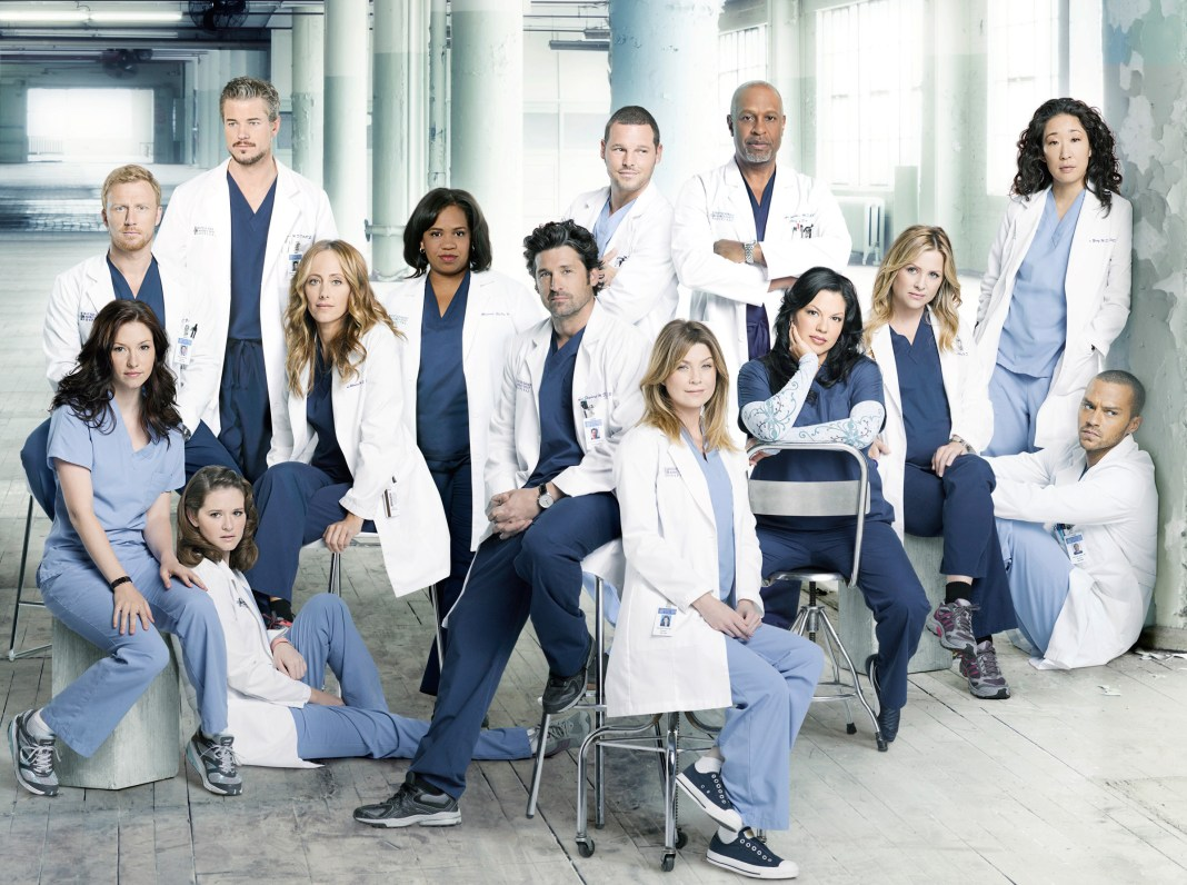 "GREY'S ANATOMY - ABC's ""Grey's Anatomy"" stars Chyler Leigh as Lexie Grey, Kevin McKidd as Owen Hunt, Sarah Drew as April Kepner, Eric Dane as Mark Sloan, Kim Raver as Teddy Altman, Chandra Wilson as Miranda Bailey, Patrick Dempsey as Derek Shepherd, Justin Chambers as Alex Karev, Ellen Pompeo as Meredith Grey, James Pickens, Jr. as Richard Webber, Sara Ramirez as Callie Torres, Jessica Capshaw as Arizona Robbins, Sandra Oh as Cristina Yang and Jesse Williams as Jackson Avery. (ABC/BOB D'AMICO)"