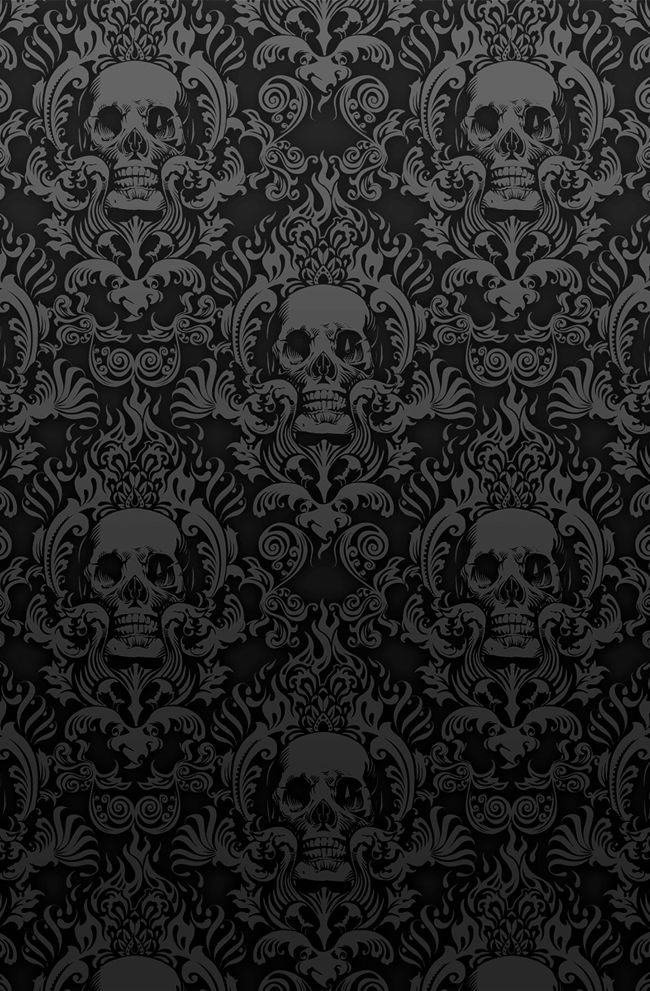 25bece0ea08966b4bfcf9441a9b09680--skull-wallpaper-damask-wallpaper