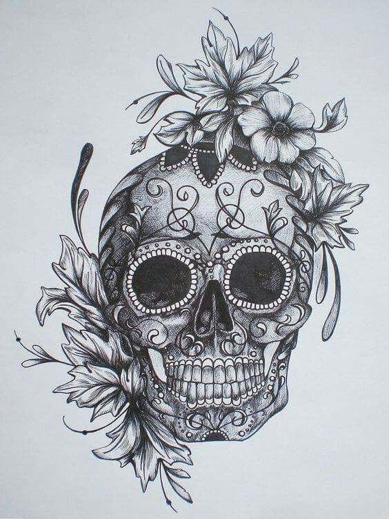 3ae5510c7991c69e9d94c642e6ec4b0a--pretty-skull-tattoos-skull-tattoo-flowers