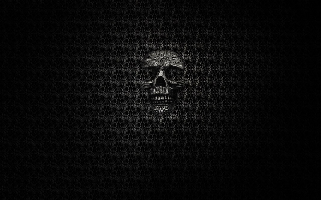 6970759-dark-skull-background