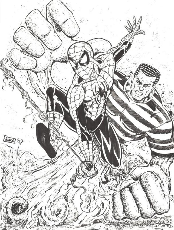 Spider-man vs Sandman by Buddy Prince (small)