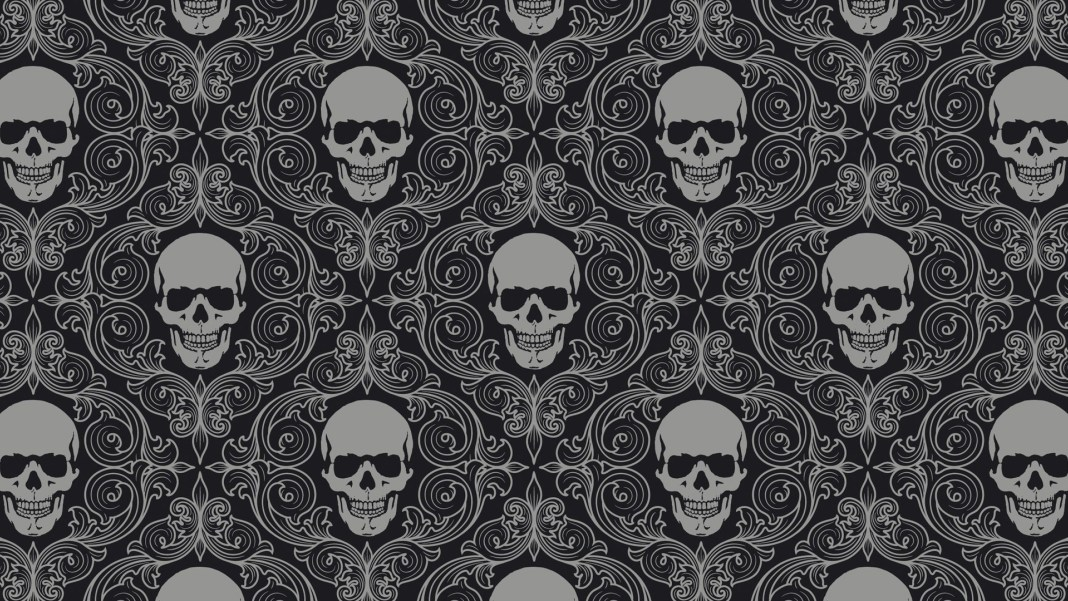 skull_drawing_gray_texture_69765_3840x2160